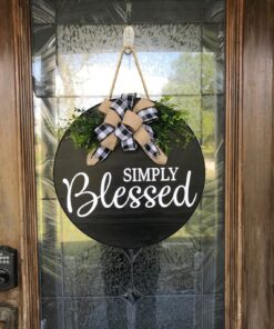 Simply Blessed Sign Black