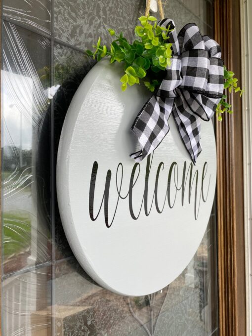 Welcome Sign Gray
