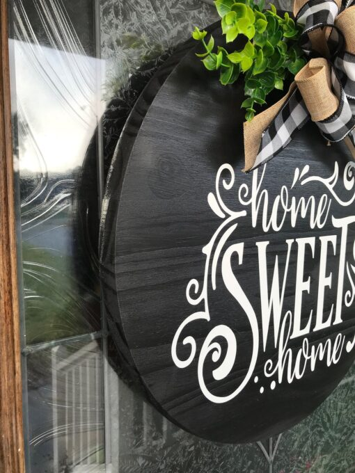 Home Sweet Home Sign Black