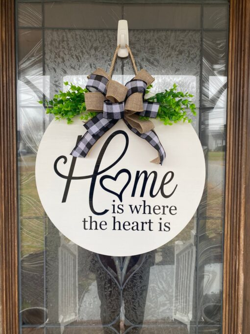 Home is where the heart is Sign White