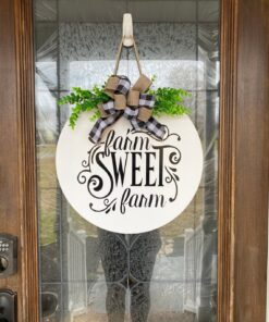 Farm Sweet Farm Sign White