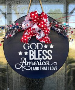 God Bless America Door Sign
