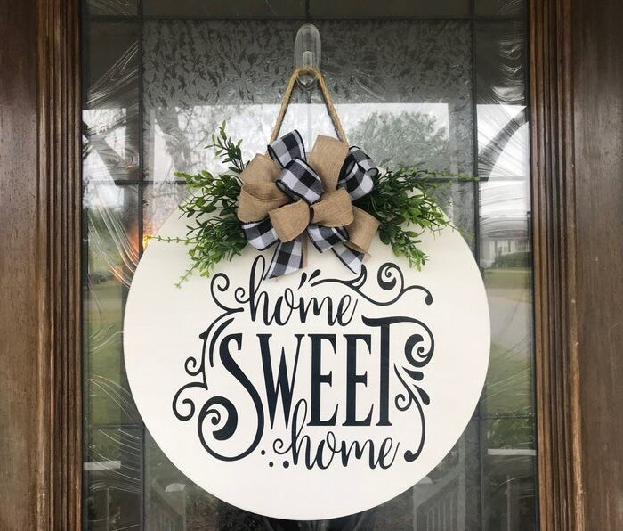 Home Sweet Home Sign White