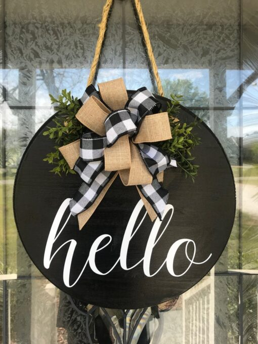 Hello Sign Black