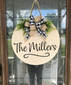 Personalized Door Hanger Cream