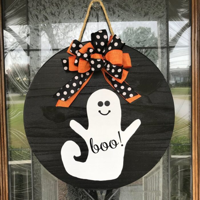 Boo Sign Black