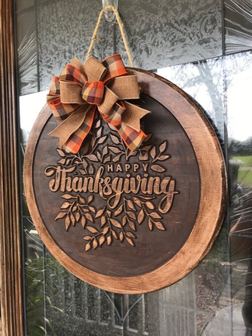 Thanksgiving Carved Wood Sign