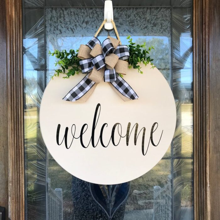 Welcome Sign Cream