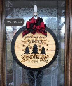 Winter Wonderland Carved Wood Sign