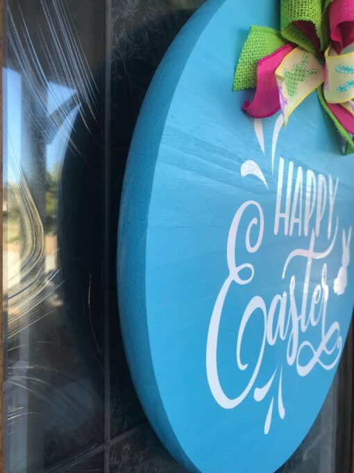 Happy Easter Sign Blue