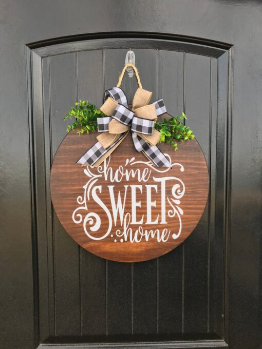 Home Sweet Home Wood Sign Stained