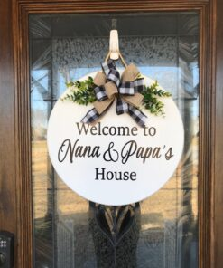 Grandparents Front Door Sign White