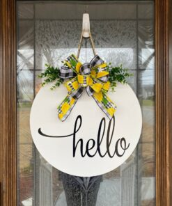 Hello Summer Door Hanger White