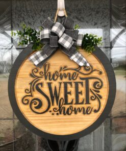 Gray Home Sweet Home Sign
