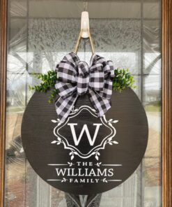 Personalized Door Hanger Black