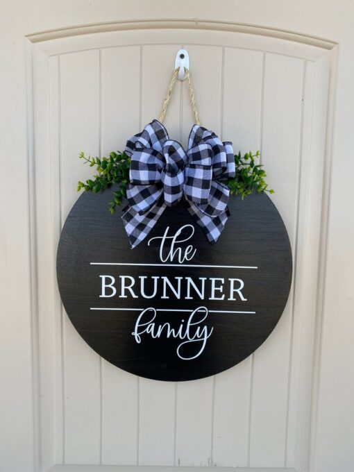 Personalized Family Name Sign Black