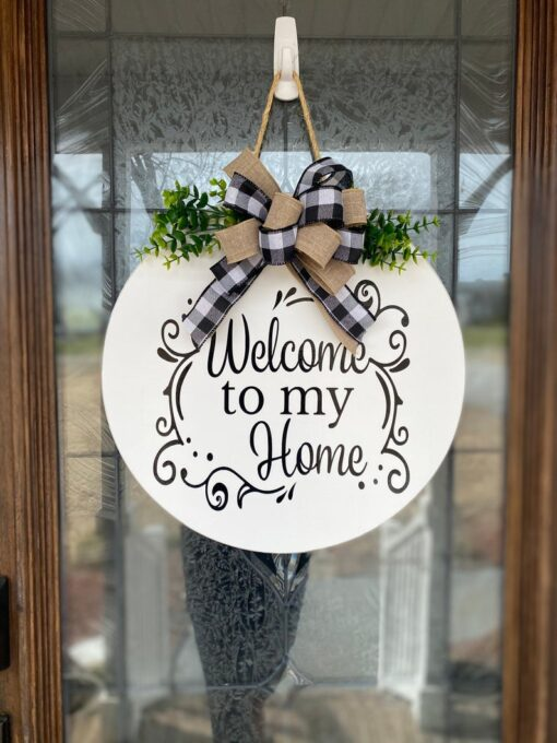 Welcome to my Home Sign White