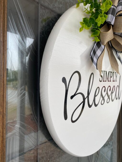 Simply Blessed Sign White
