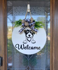 Jack Russell Terrier Welcome Sign