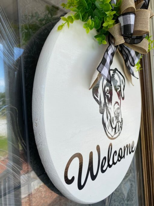 Great Dane Welcome Sign