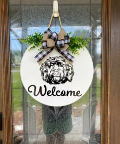 Portuguese Water Dog Welcome Sign