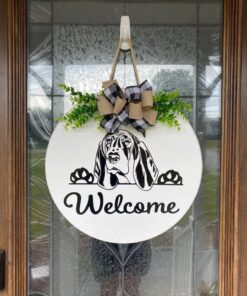 Basset Hound Welcome Sign