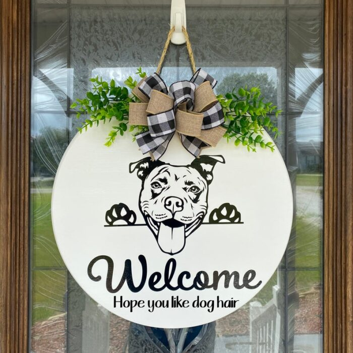 Pitbull Welcome Sign