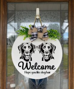 Labrador and Labrador Welcome Sign