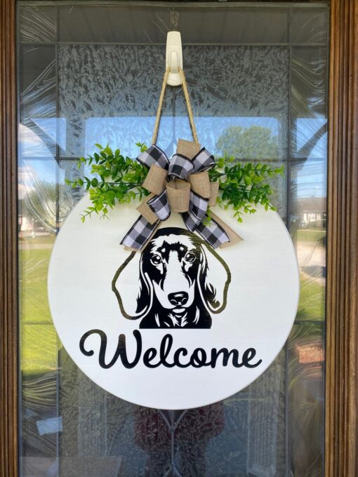 Dachshund Welcome Sign
