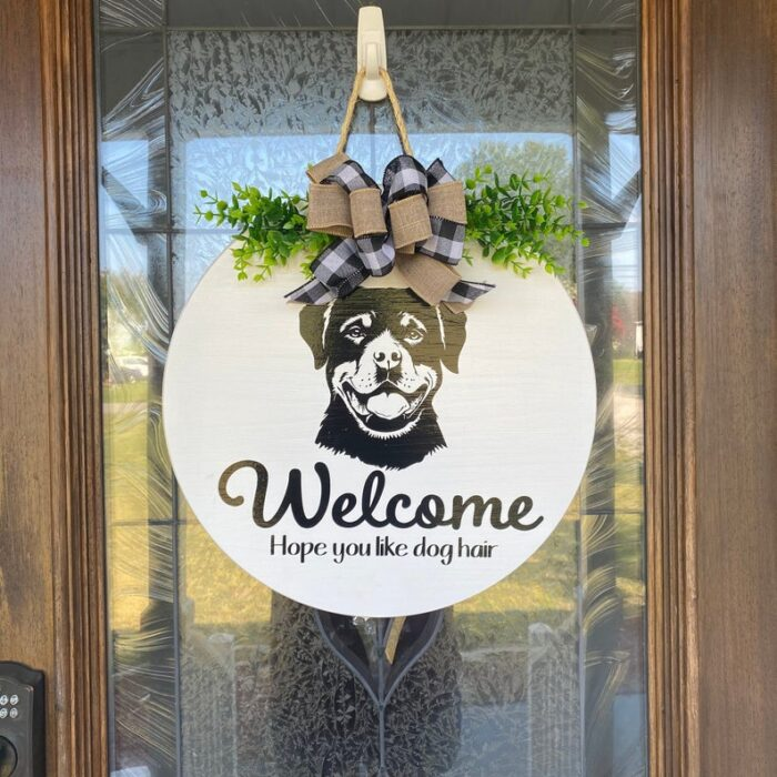 Rottweiler Welcome Sign
