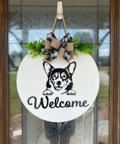 Corgi Welcome Sign