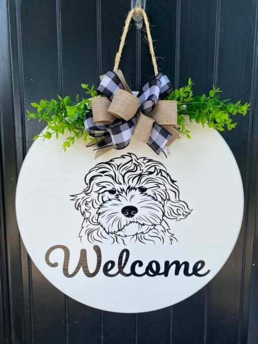 Golden doodle Welcome Sign