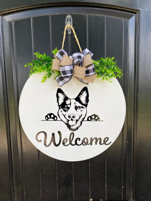 Cattle Dog Welcome Sign