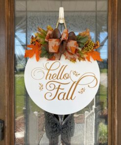 Hello Fall Sign White