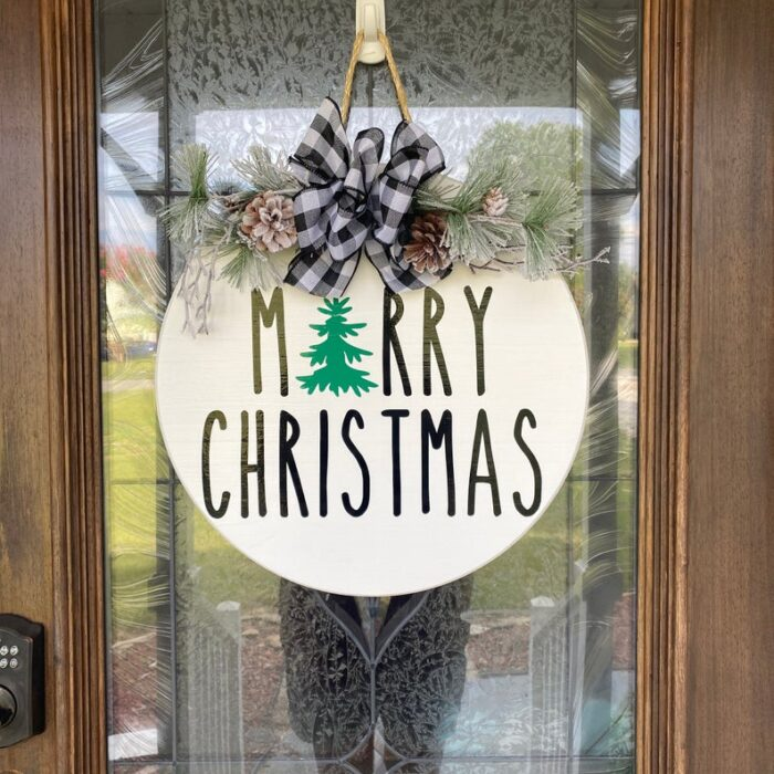 Merry Christmas Sign White