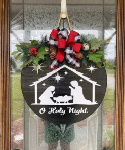 O Holy Night Sign Black