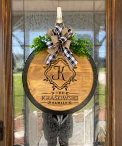 Personalized Carved Wood Door Sign