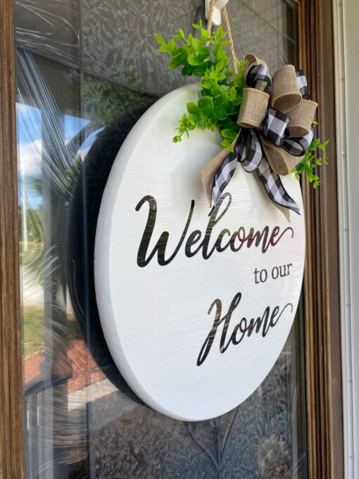 Welcome to our Home Sign White