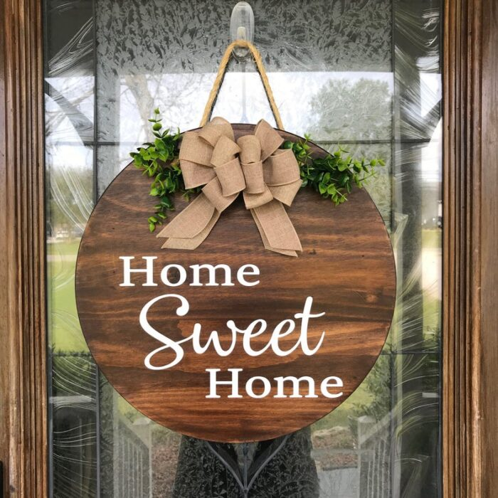 Home Sweet Home Stained Wood Sign