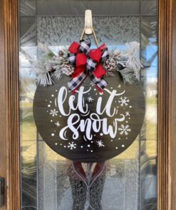 Let It Snow Sign Black