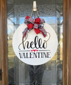 Hello Valentine Sign White