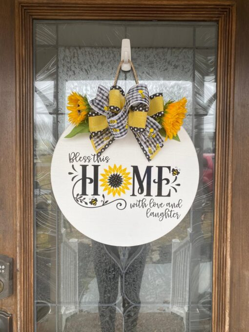 Bless this Home Sign White