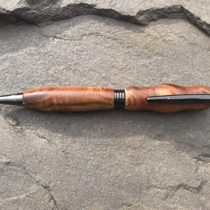 Trimline Gun Metal Twist Pen With Canarywood